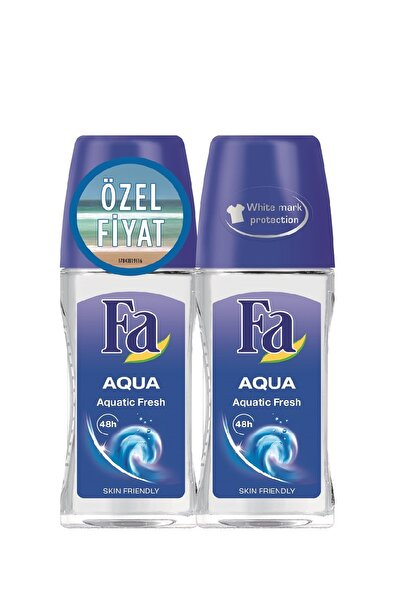 2'Li Deodorant Roll-On - Aqua 50  ml   + 50 ml