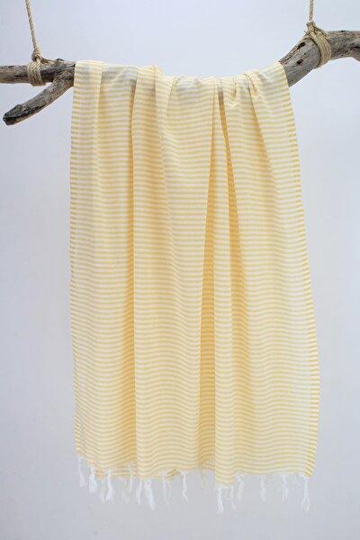 Peştemal Saraylı İnce Çizgili Sarı Pst302