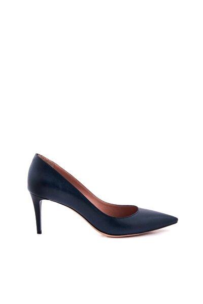 Kadın Lacivert Hakiki Deri Topuklu Ayakkabı 152TCK557 21694
