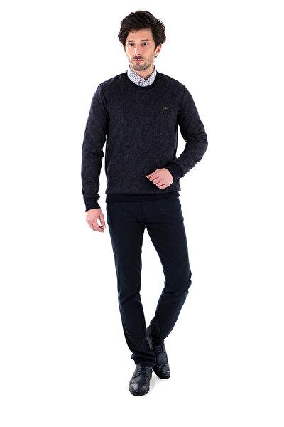 Erkek Lacivert Sweatshirt - 4318079