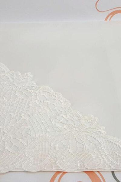 Saten Angles Bohça Beyaz 201120