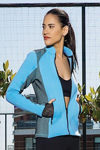 Kadın Açık Mavi Kadın Sweatshirt MGP7022