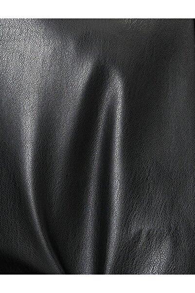 Siyah Suni Deri Döşemelik Kumaş