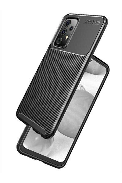 Galaxy A72 Uyumlu (carbon Tasarım) Nezih Case Silikon Kılıf