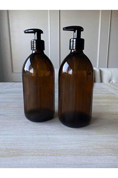 300ml Amber Kahverengi Cam Sıvı Sabunluk