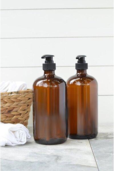500ml Amber Kahverengi Cam Sıvı Sabunluk