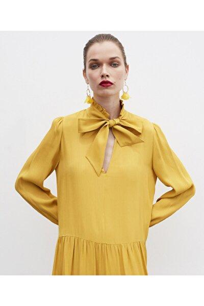 Bağcık Yakalı Elbise