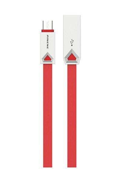 PN-309 Yüksek Hızlı Micro USB 1 Metre Kırmızı Data Şarj Kablosu