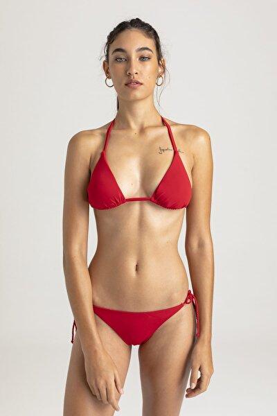 Kadın Kırmızı Triangle Bikini Üstü