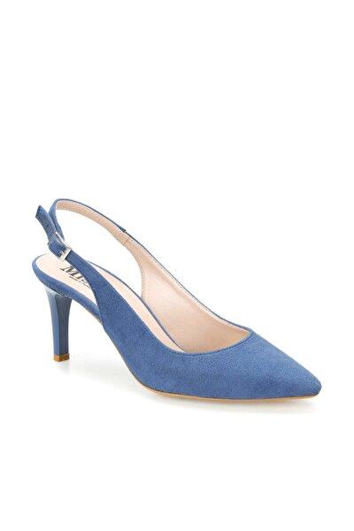 Ds19073 Mavi Kadın Topuklu Ayakkabı 100383005