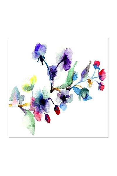 Suluboya Çiçek Kanvas Tablo 30X30 Cm P1156
