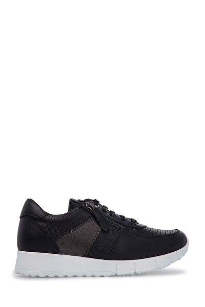 Hakiki Deri Siyah Kadın Sneaker 102 19600-Z