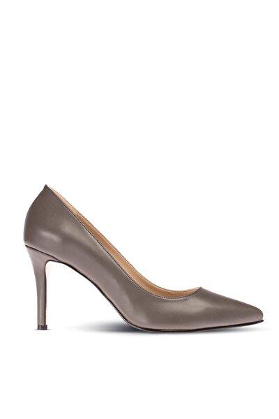 Gri Kadın  Klasik Topuklu Ayakkabı 02029ZGRIM02