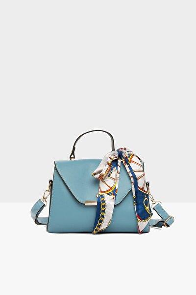 Mavi Kadın Kapaklı Şallı Askılı Çanta M000003228