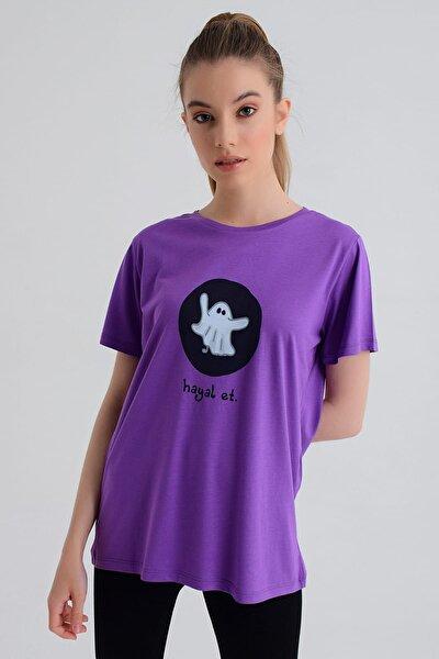 Kadın T-shirt - Wormie Hayalet - WRMMHYT