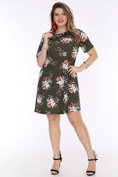 Kadın Haki Cepli Tunik Elbise 3264