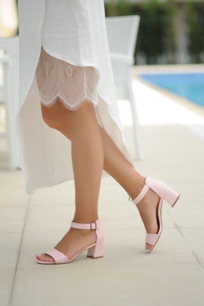 Pudra Kadın Klasik Topuklu Ayakkabı A190-19