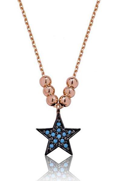 Kadın Mavi Yıldız Kolye PT2610458