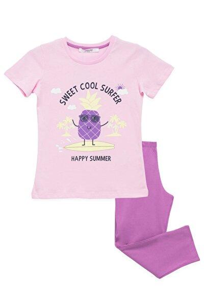 Kız Çocuk Pijama Takımı Pembe