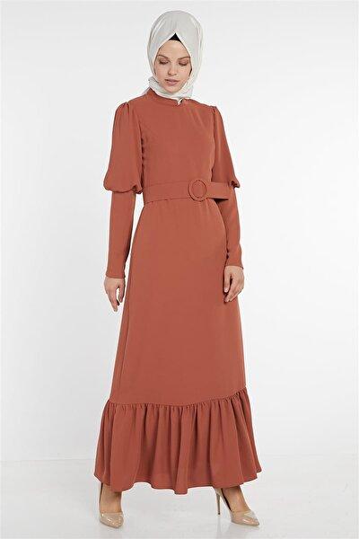 Kadın Kiremit Elbise Loreen-22123