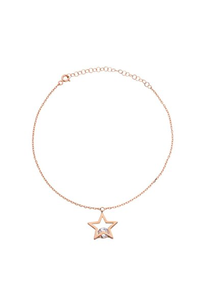 Taşlı Yıldız Gümüş Halhal - GMS817
