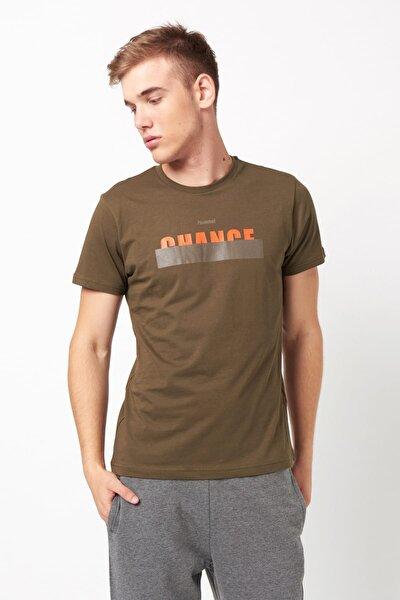 HMLENZO  T-SHIRT S/S TEE Koyu Haki Erkek T-Shirt 100579829