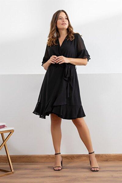 Kadın Siyah Elbise fw01935eb