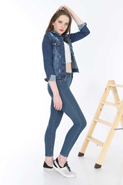 Kadın Mavi Kot Ceket MYN6050-01-20009