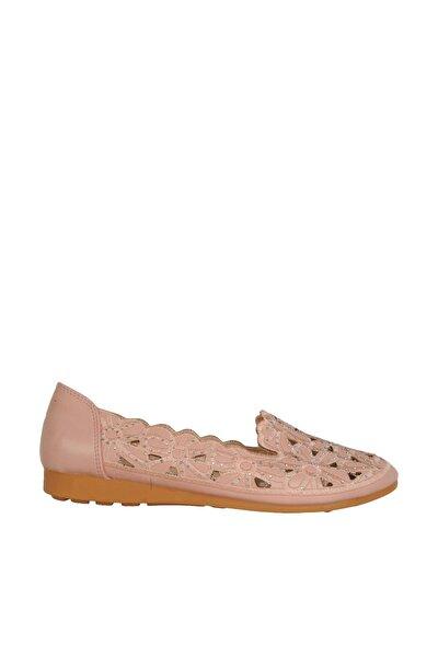 Yazlık Desenli Günlük Rahat Bayan Babet Ayakkabı