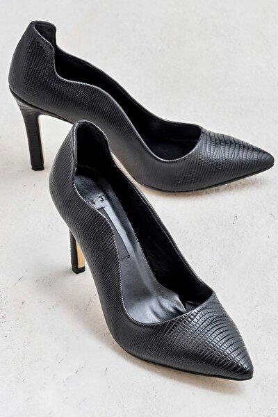 LIHUEE Siyah Kadın Topuklu Ayakkabı