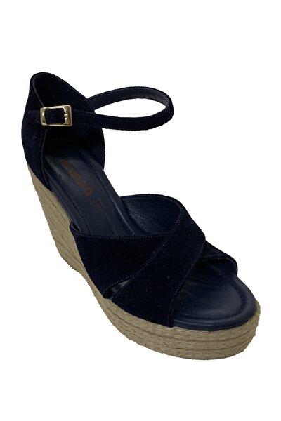 Hakiki Deri Kadın Lacivert Ayakkabı 6620545LCVRTWNN