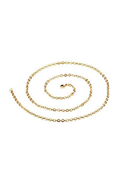 Kadın  Erkek 75 Cm. 2Mm. Gold İpc. Çelik Kolye Zinciri ehy-dt41