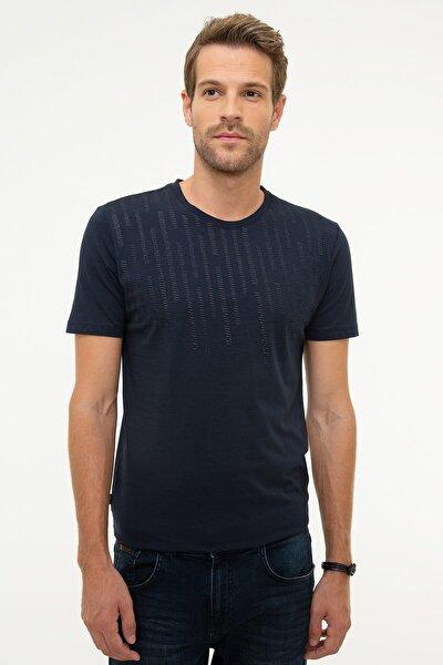 Erkek Lacivert Slim Fit T-Shirt