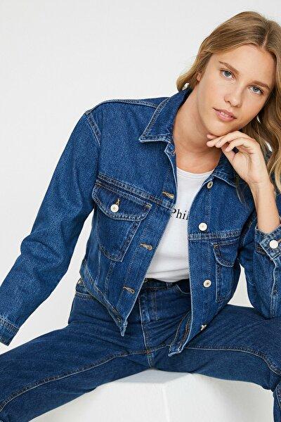 Kadın Mavi Ceket 0KAK57037MD