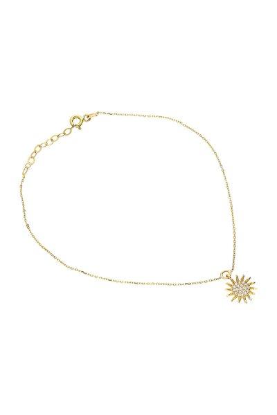Kadın Altın Güneş Halhal VK0673