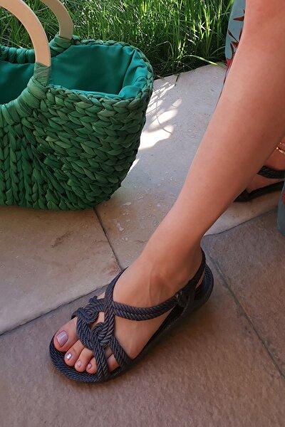 Lacivert Kadın Sandalet M9999-19-100244R