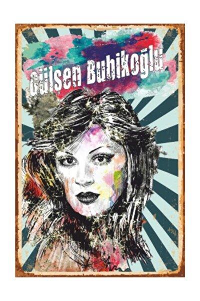 Gülşen Bubikoğlu Yeşilçam Retro Vintage Ahşap Poster