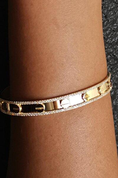 Kadın 14 Ayar Altın Bilezik BL10716