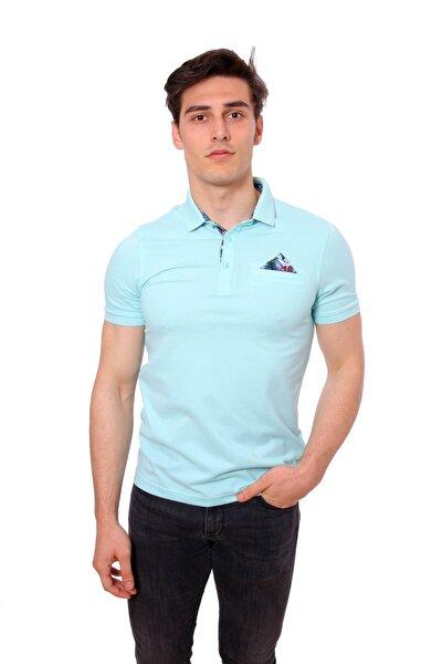 Polo Yaka Erkek Tshirt Mint/Aqua 1817017