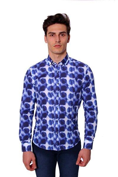 Uzun Kollu Erkek Gömlek Mavi 1812032