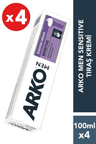 4'Lü Sensitive Tıraş Kremi 4X100 gr