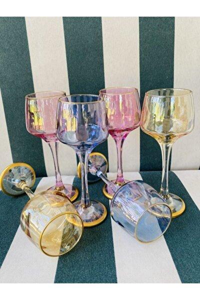 Renkli 6 Kişilik Kahve Yanı Su Bardağı Kadeh