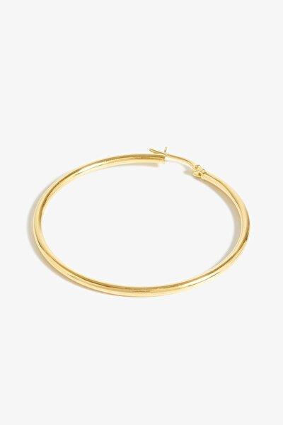 Gümüş Hera Small Gold Halka Küpe