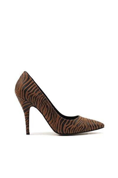 Taba Kadın Klasik Topuklu Ayakkabı 01AYH166320A37M
