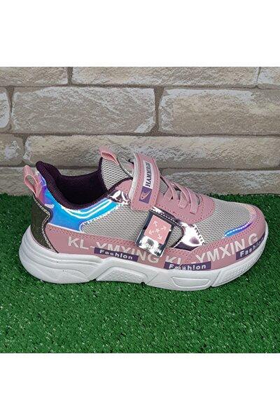 Kız Çocuk Pembe Parlak Sneaker Spor Ayakkabı
