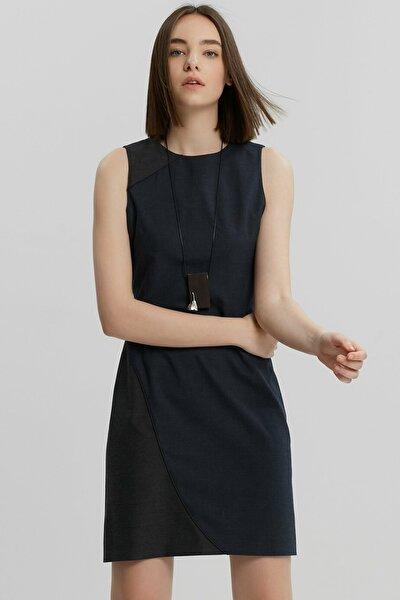 Kadın Lacivert Bağ Detaylı Elbise 9KKEL7127X