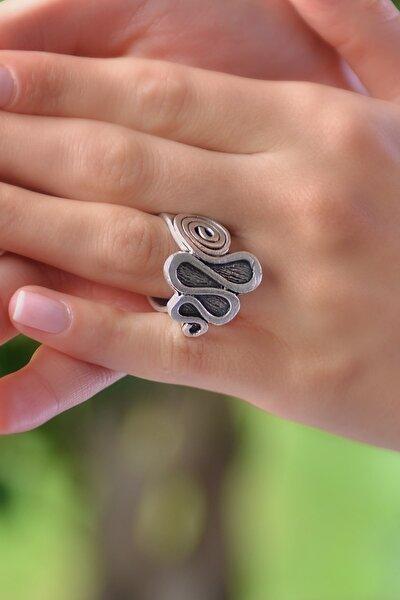 Kadın Antik Gümüş Kaplama Yüzük STY0167