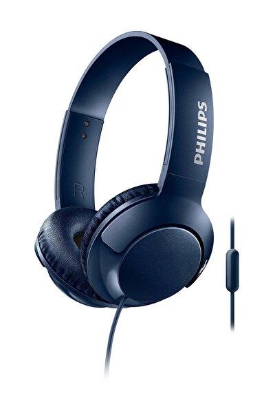 SHL3075BL/00  Bass+ Mikrofonlu Mavi Kulaklık