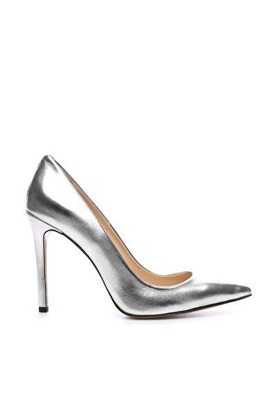 Gri Kadın Vegan Klasik Topuklu Ayakkabı 22 51191 BN AYK Y19
