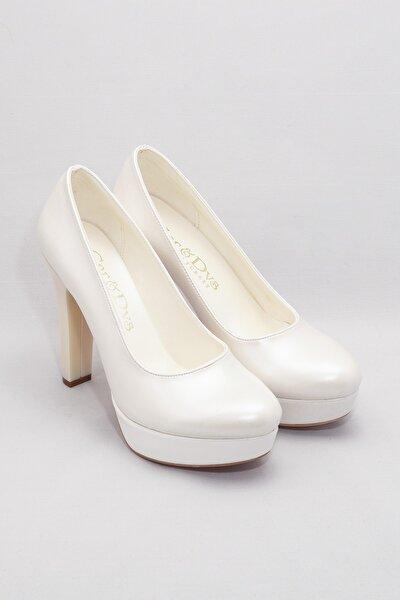 Sedef Kadın Klasik Topuklu Ayakkabı CNR2001Sedef Cilt